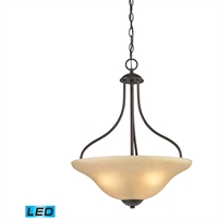 Picture for category Thomas Lighting 1203PL/10-LED Pendants Oil Rubbed Bronze Steel,Glass Conway