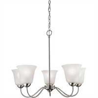Picture for category Thomas Lighting 1205CH/20 Chandeliers Brushed Nickel Steel,Glass Conway