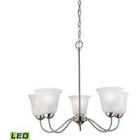 Picture for category Thomas Lighting 1205CH/20-LED Chandeliers Brushed Nickel Steel,Glass Conway