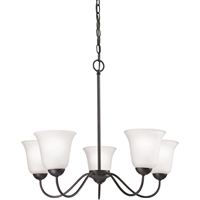Picture for category Thomas Lighting 1255CH/10 Chandeliers Oil Rubbed Bronze Steel,Glass Conway