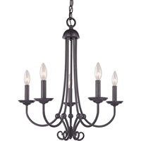 Picture for category Thomas Lighting 1505CH/10 Chandeliers Oil Rubbed Bronze Metal Williamsport