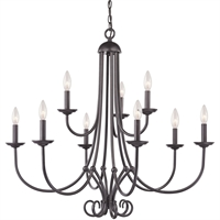 Picture for category Thomas Lighting 1509CH/10 Chandeliers Oil Rubbed Bronze Metal Williamsport