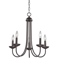 Picture for category Thomas Lighting 1525CH/10 Chandeliers Oil Rubbed Bronze Metal Williamsport
