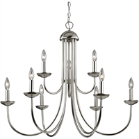 Picture for category Thomas Lighting 1529CH/20 Chandeliers Brushed Nickel Metal Williamsport