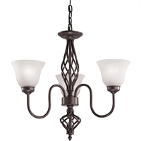 Picture for category Thomas Lighting 2203CH/10 Chandeliers Oil Rubbed Bronze Metal,Glass Santa Fe