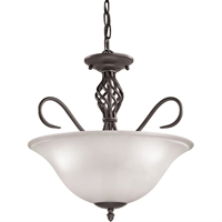 Picture for category Thomas Lighting 2203CS/10 Chandeliers Oil Rubbed Bronze Metal,Glass Santa Fe