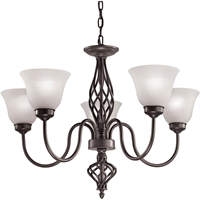 Picture for category Thomas Lighting 2205CH/10 Chandeliers Oil Rubbed Bronze Metal,Glass Santa Fe