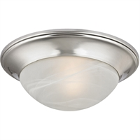 Picture for category Thomas Lighting 7301FM/20 Flush Mounts Brushed Nickel Metal,Glass Signature