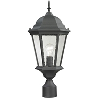 Picture for category Thomas Lighting 8101EP/65 Outdoor Pendant Matte Textured Black Metal,Glass Temple Hill
