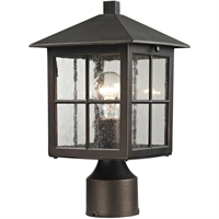 Picture for category Thomas Lighting 8201EP/70 Outdoor Post Light Hazelnut Bronze Metal,Glass Shaker Heights