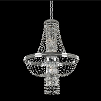 "Picture for category Pendants 8 Light Bulb Fixture With Chrome Finish Candelabra Base Type 24"" 320 Watts"