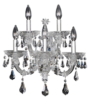 "Picture for category Wall Sconces 5 Light Bulb Fixture With Chrome Finish Candelabra Bulb 17"" 200 Watts"