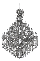 "Picture for category Chandeliers 66 Light Bulb Fixture With Chrome Finish Candelabra Bulb 99"" 2640 Watts"