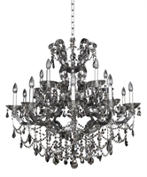 "Picture for category Chandeliers 15 Light Bulb Fixture With Chrome Finish Candelabra Bulb 36"" 600 Watts"