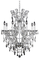 "Picture for category Chandeliers 8 Light Bulb Fixture With Chrome Finish Candelabra Bulb 36"" 320 Watts"