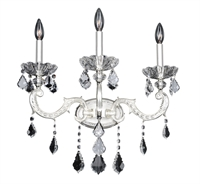 "Picture for category Wall Sconces 3 Light Bulb Fixture With Two-Tone Silver Finish Candelabra Bulb 20"" 120 Watts"