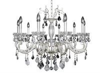 "Picture for category Chandeliers 10 Light Bulb Fixture With Two-Tone Silver Finish Candelabra Bulb 29"" 400 Watts"