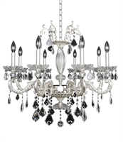 "Picture for category Chandeliers 8 Light Bulb Fixture With Two-Tone Silver Finish Candelabra Bulb 26"" 320 Watts"