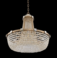 "Picture for category Pendants 11 Light Bulb Fixture With Brushed Champagne Gold Finish Candelabra Bulb 28"" 660 Watts"
