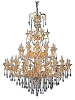 "Picture for category Chandeliers 66 Light Bulb Fixture With Two-tone Gold/24K Finish Candelabra Bulb 90"" 2640 Watts"