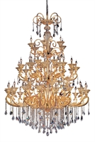 "Picture for category Chandeliers 48 Light Bulb Fixture With Two-tone Gold/24K Finish Candelabra Bulb 87"" 1920 Watts"