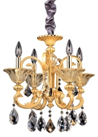 "Picture for category Chandeliers 4 Light Bulb Fixture With Two-tone Gold/24K Finish Candelabra Bulb 18"" 160 Watts"