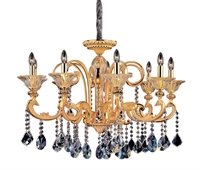 "Picture for category Chandeliers 9 Light Bulb Fixture With Two-tone Gold/24K Finish Candelabra Bulb 27"" 360 Watts"
