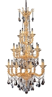 "Picture for category Chandeliers 20 Light Bulb Fixture With Two-tone Gold/24K Finish Candelabra Bulb 69"" 800 Watts"