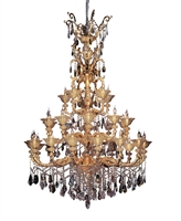 "Picture for category Chandeliers 30 Light Bulb Fixture With Two-tone Gold/24K Finish Candelabra Bulb 91"" 1200 Watts"