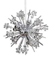 "Picture for category Pendants 10 Light Bulb Fixture With Chrome Finish Candelabra Bulb 39"" 400 Watts"