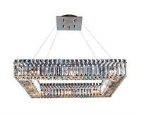 "Picture for category Pendants 12 Light Bulb Fixture With Chrome Finish Candelabra Bulb 26"" 480 Watts"