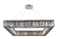 "Picture for category Pendants 16 Light Bulb Fixture With Chrome Finish Candelabra Bulb 35"" 640 Watts"