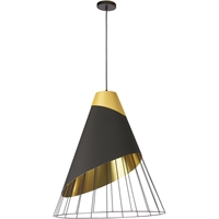 Picture for category Dainolite Lighting FAR-1619-698 Pendants Black Fabric/Steel Farthingale