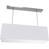 Picture for category Dainolite Lighting OR-L-WH Pendants White Fabric Oersized Drum