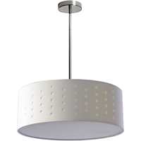 Picture for category Dainolite Lighting SAB-194P-PC-WH Pendants Polished Chrome Fabric Sabrina