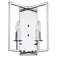 Picture for category Artcraft Lighting AC10727CH Wall Sconces Chrome Metal Allston