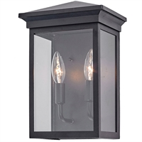 Picture for category Artcraft Lighting AC8161BK Wall Sconces Black Metal & Clear Glass Gable