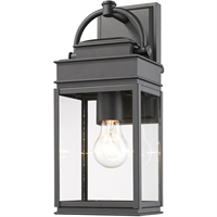 Picture for category Artcraft Lighting AC8220BK Wall Sconces Black Metal & Clear Glass Fulton