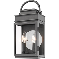 Picture for category Artcraft Lighting AC8221BK Wall Sconces Black Metal & Clear Glass Fulton