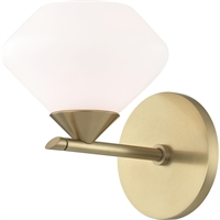 Picture for category Mitzi By Hudson Valley H136301-AGB Bath Lighting Aged Brass Steel / Glass Valerie