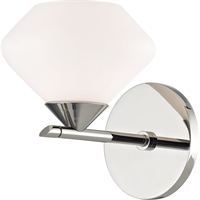 Picture for category Mitzi By Hudson Valley H136301-PN Bath Lighting Polished Nickel Steel / Glass Valerie