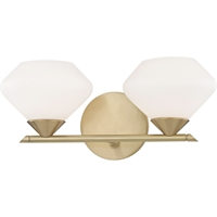 Picture for category Mitzi By Hudson Valley H136302-AGB Bath Lighting Aged Brass Steel / Glass Valerie