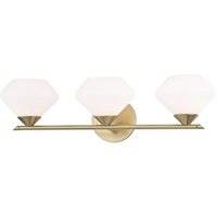 Picture for category Mitzi By Hudson Valley H136303-AGB Bath Lighting Aged Brass Steel / Glass Valerie