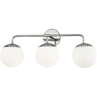 Picture for category Mitzi By Hudson Valley H193303-PN Bath Lighting Polished Nickel Steel / Glass Paige