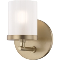 Picture for category Mitzi By Hudson Valley H239301-AGB Bath Lighting Aged Brass Steel / Glass Ryan