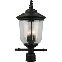 Picture for category Eglo Lighting 202804A Outdoor Post Light Matte Black Steel Pinedale