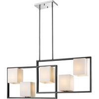 Picture for category Eglo Lighting 202819A Island Lighting Black and Chrome Steel Regis Falls
