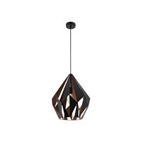 Picture for category Eglo Lighting 49878A Pendants Matte Black and Copper Iron Carlton I