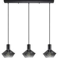 Picture for category Eglo Lighting 97424A Island Lighting Black Chrome Steel, Glass Ponzano