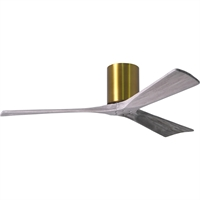 Picture for category Matthews Fan Company IR3H-BRBR-BW-52 Indoor Ceiling Fans Brushed Brass Cast Aluminum/Heay Spun And Stamped Steel Irene-3H